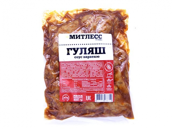 """Гуляш """"Митлесс"""" с соусом БАРБЕКЮ"""