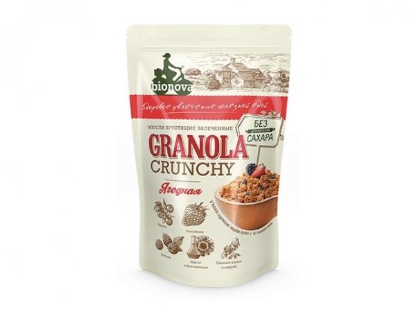 Гранола (Мюсли) Bionova® без сахара Ягодная 400г