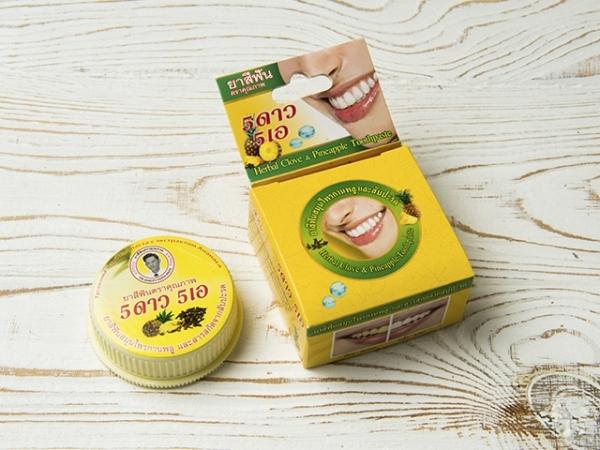 Отбеливающая зубная паста Thanyaporn Herb с экстрактом Ананаса 25 г