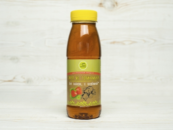Сироп из топинамбура без сахара  с клубникой