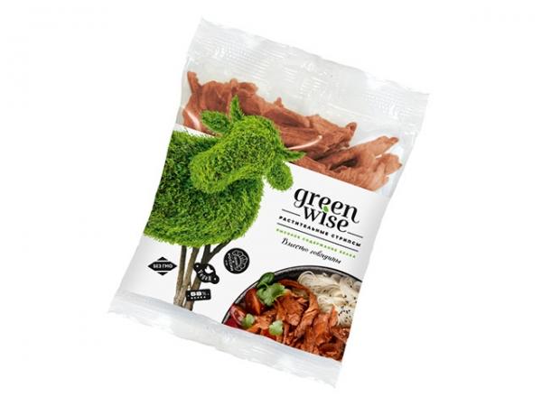 """Стрипсы растительные со вкусом говядины """"Green Wise"""""""