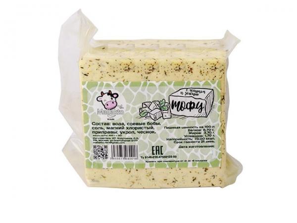 "Тофу с чесноком и зеленью ""Mallakto"""