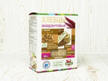 Хлебцы амарантовые кукурузно-рисовые с гречей