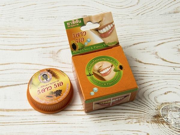 Отбеливающая зубная паста Thanyaporn Herb с экстрактом тайской Папайи 25 г